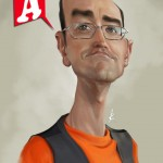 """ Ágreda, caricaturist "" Digital  2015"