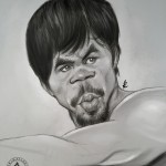 """ Manny Pacquiao""  Mechanical pencil and Sketchbook pro on Note 3.   2015"