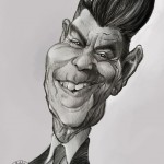""" Ronald Reagan"" Mechanical pencil and Sketchbook pro on Note 3.   2015"
