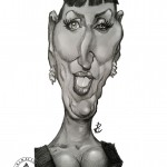 """ Rossy de Palma"" Mechanical pencil and Sketchbook pro on Note 3.   2015"