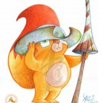 """Topi"" Watercolors. Character designed for a Children learning method 0-3 years for Editorial Algaida."