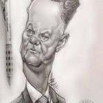 """ Van Gaal""  Mechanical pencil and Sketchbook pro on Note 3.   2015"
